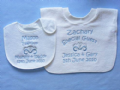 Personalised Bridesmaid Pageboy Wedding Bib 2 sizes